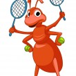 Cartoon Character Ant — Stock Vector