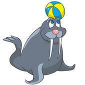 Selo de personagem de desenho animado — Vetorial Stock