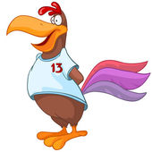 Tecknad karaktär kyckling — Stockvektor
