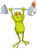Cartoon Character Frog — Stock Vector