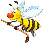 Cartoon Character Bee — Stock Vector