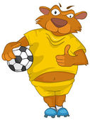 Cartoon Character Bear — Stock Vector