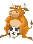 Kreslená postava kráva — Stock vektor