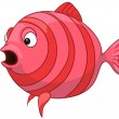 Cartoon Character Fish — Stock Vector