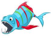 Cartoon Character Fish — Stock Vector