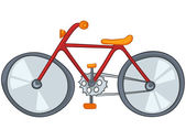 Cartoon Bicycle — Stock Vector