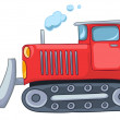 Cartoon Tractor - Stock Vector