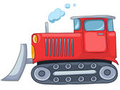 Cartoon Tractor — Stock Vector