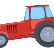 Cartoon Tractor - Imagen vectorial