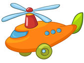 Cartoon Helicopter — Stock Vector