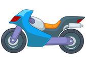 Dessin animé moto — Vecteur