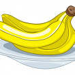 Cartoon Food Fruit Banana - Stock Vector
