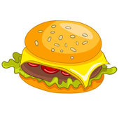 Cartoon Food Hamburger — Stock Vector