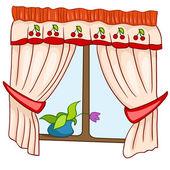 Cartoon Home Window — Stock Vector