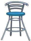 Cartoon hem möbler stol — Stockvektor