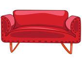 Kanapa kreskówka meble do domu — Wektor stockowy
