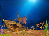 Ocean Underwater World — Stock Vector