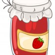 Cartoon Home Kitchen Jar - Imagen vectorial