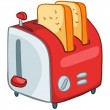 Cartoon Home Kitchen Toaster — Stock Vector