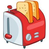 Cartoon Home Kitchen Toaster — Stock Vector