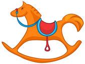 Cartoon Home Toy Horse — Stock Vector