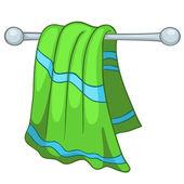 Cartoon huis keuken handdoek — Stockvector