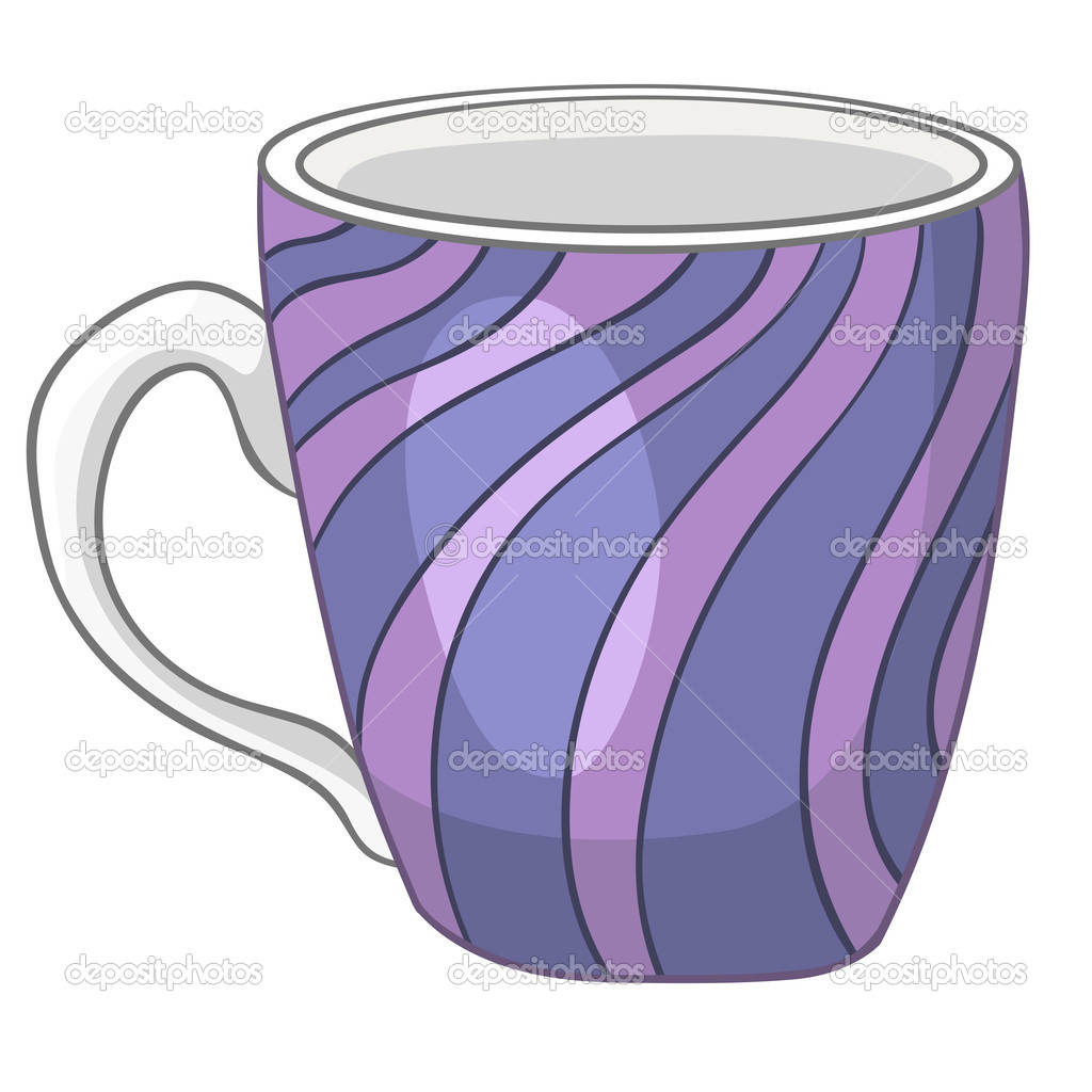 Cartoon home kitchen cup stock illustration