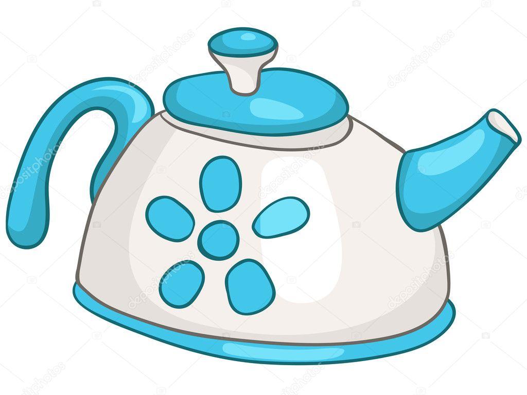 Caldera de hogar cocina dibujos animados vector de stock for Dibujos de cocina