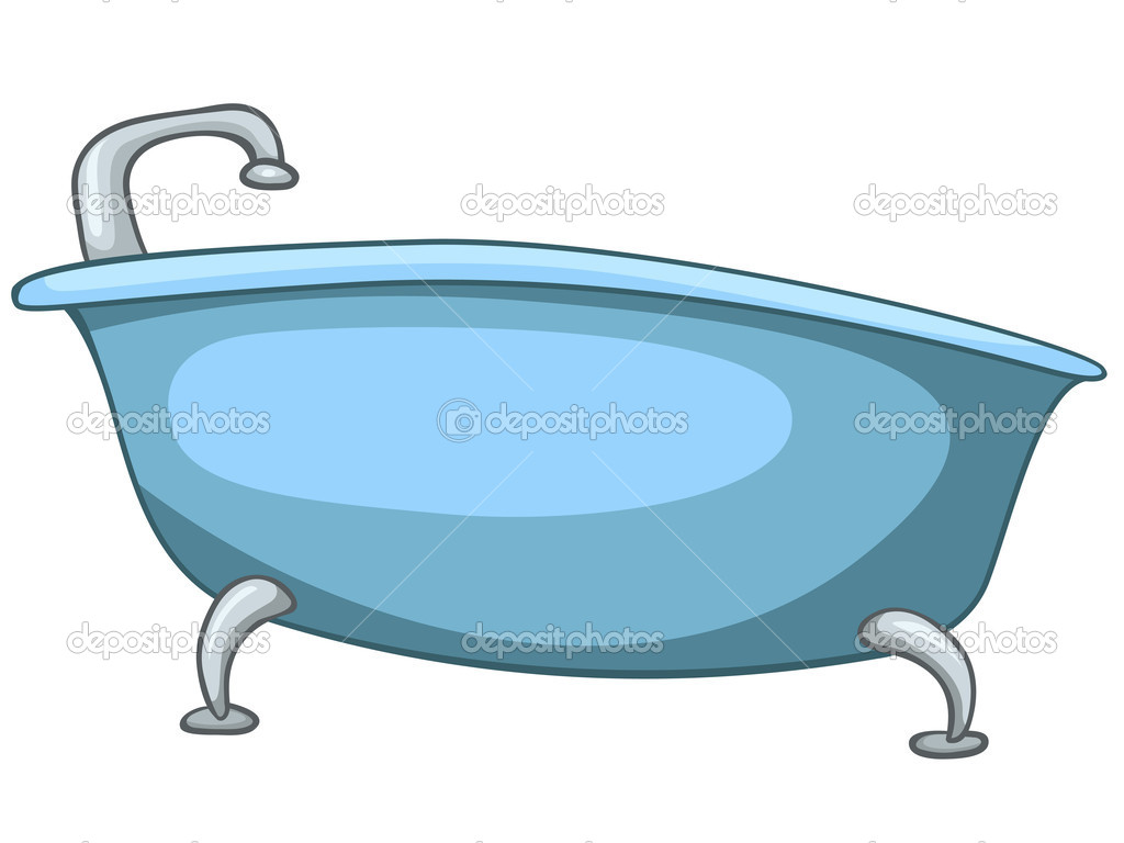 cartoon home washroom tub stock vector rastudio 9099998