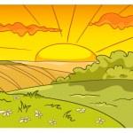 Cartoon Nature Landscape — Stock Vector #9100236