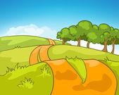 漫画自然風景 — ストックベクタ
