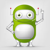Cartoon Character Android — Vector de stock
