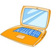 Cartoon Appliences Laptop — Stock Vector