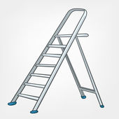 Cartoon Home Miscellaneous Ladder — Stock Vector