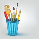 Cartoon Home Miscellaneous Pencil Set — Stock Vector