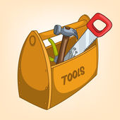 Cartoon Home Miscellaneous Tool Box — Stock Vector