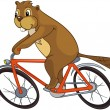 """Beaver CREES. Look for Funny Beaver by Keyword """"CREES"""". — Stock Vector #9876549"""