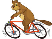 """Beaver CREES. Look for Funny Beaver by Keyword """"CREES"""". — Stock Vector"""