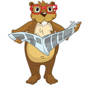 """Beaver CREES. Look for Funny Beaver by Keyword """"CREES"""". — ストックベクタ"""