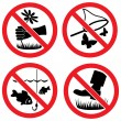 Nature protection vector signs — Stock Vector