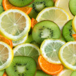 Fruits seamless — Stock Photo