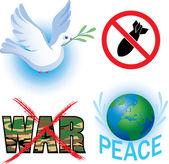 Símbolos de anti-guerra vetor — Vetorial Stock