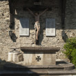 Stock Photo: Wood Crucifix Memorial of First and Second World War, near Velden (Carinthia, Austria)