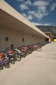 Cycle Parking near Primary School — Stock Photo