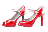 Female red high heel shoe — Stock Photo