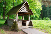 Wooden Gazebo — Stock Photo