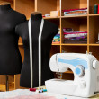 Fashion designer studio with dressmakers professional equipment — Stock Photo #8322761