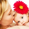 Beautiful loving mother and baby girl — Stock Photo #8573692