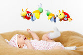Happy smiling Baby Playing with toys — Stock Photo