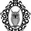 Vettoriale Stock : Owl in frame, vector